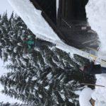 zasnežený objekt na Oravskej lesnej železnici