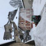 Odstraňovanie snehu z Hlavného nádvoria na Oravskom hrade