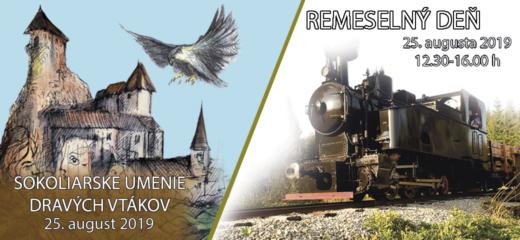 Sokoliari na Oravskom hrade. Remeselný deň na Oravskej lesnej železnici