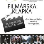 Plagát filmárska klapka 2020