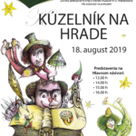 Plagát k podujatiu kúzelník na hrade 2019
