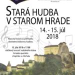 hrad stara hudba v starom hrade 2018 plagat