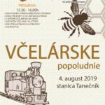 plagát k podujatiu včelárske popoludnie 2019