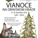 Plagát k podujatiu vianoce na oravskom hrade