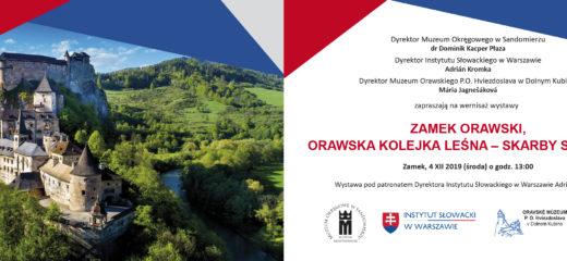 """vernisáž výstavy """"Oravský hrad, Oravská lesná železnica – unikáty Slovenska."""""""